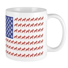 USA Schnauzer Dog Flag Mug