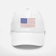 USA Schnauzer Dog Flag Baseball Baseball Cap