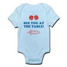 SEE YOU AT THE TABLE DICE SWORD Infant Bodysuit
