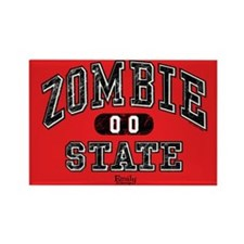 Zombie State Rectangle Magnet