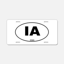 Iowa State Aluminum License Plate