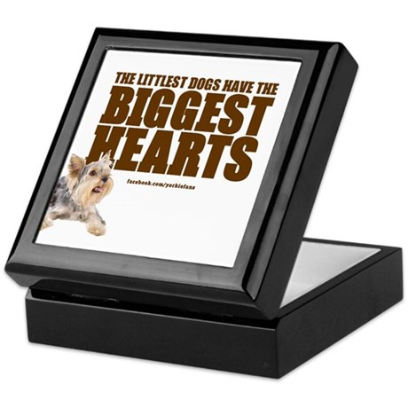 Yorkie Hearts Keepsake Box