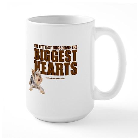Yorkie Hearts Large Mug