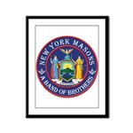 New York Freemasons. A Band of Brothers. Framed Pa