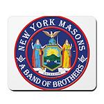 New York Freemasons. A Band of Brothers. Mousepad