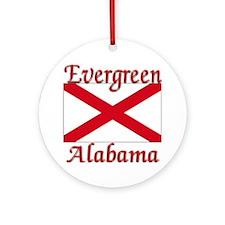 Evergreen Alabama Ornament (Round)