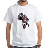Africa Mens White T-shirts