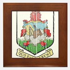 Bermuda Coat Of Arms Framed Tile