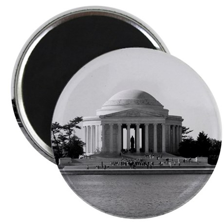 Black and White Jefferson Magnet