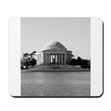 Black and White Jefferson Mousepad