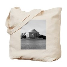 Black and White Jefferson Tote Bag