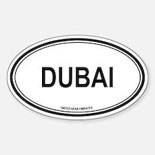 Dubai, United Arab Emirates e Oval Decal