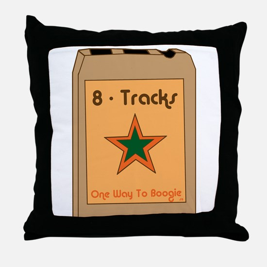 8-Tracks Throw Pillow