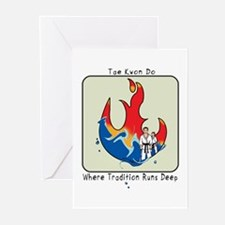 Tae Kwon Do Fire and Water 2 Greeting Cards (Packa