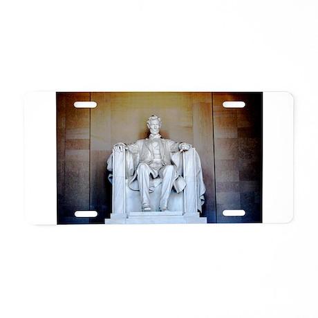 Lincoln Statue Aluminum License Plate