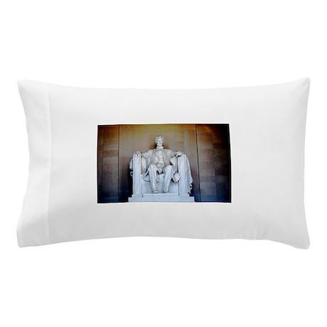 Lincoln Statue Pillow Case