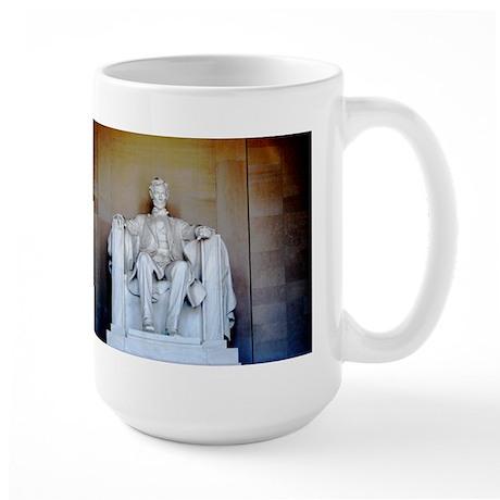 Lincoln Statue Large Mug
