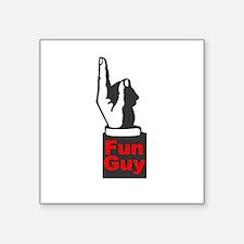 """Fun Guy Square Sticker 3"""" x 3"""""""