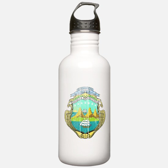 Costa Rica Coat Of Arms Water Bottle
