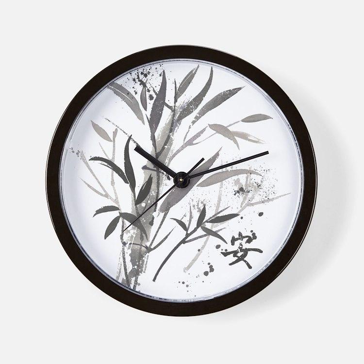 Bamboo Garden Wall Clock