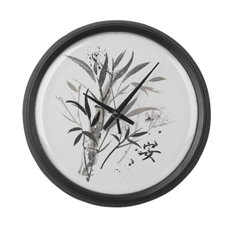 Bamboo Garden Large Wall Clock