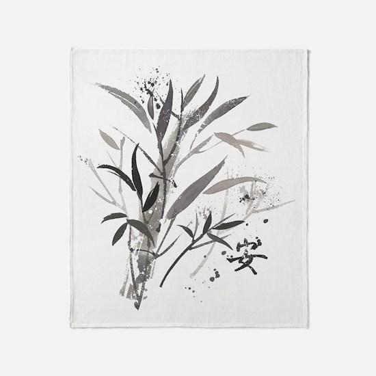 Bamboo Garden Throw Blanket