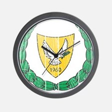 Cyprus Coat Of Arms Wall Clock