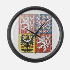 Czech Republic Coat Of Arms Large Wall Clock