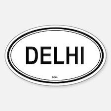 Delhi, India euro Oval Decal