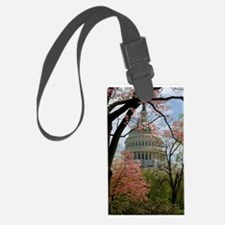 Capitol Amongst Cherry Trees Large Luggage Tag