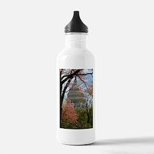 Capitol Amongst Cherry Trees Water Bottle