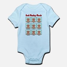 Sock Monkey Moods Body Suit