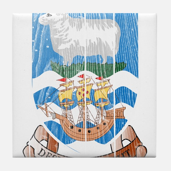 Falkland Islands Coat Of Arms Tile Coaster