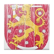 Finland Coat Of Arms Tile Coaster