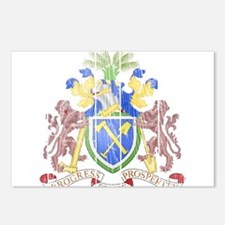 Gambia Coat Of Arms Postcards (Package of 8)