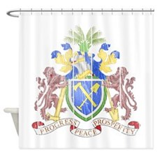Gambia Coat Of Arms Shower Curtain