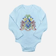 Gambia Coat Of Arms Long Sleeve Infant Bodysuit