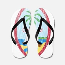 Guam Coat Of Arms Flip Flops