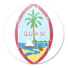 Guam Coat Of Arms Round Car Magnet