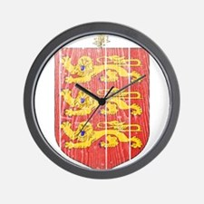 Guernsey Coat Of Arms Wall Clock