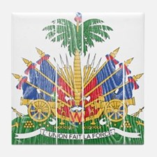 Haiti Coat Of Arms Tile Coaster