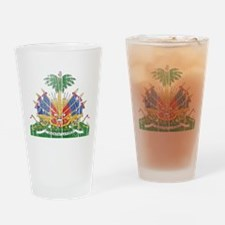 Haiti Coat Of Arms Drinking Glass