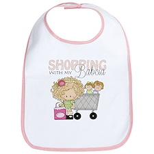 Shopping with My Babcia Baby Bib