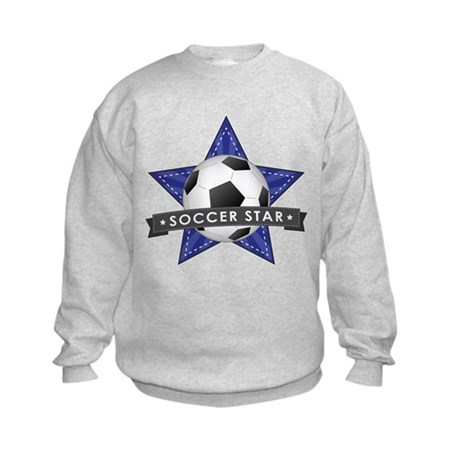 Navy Soccer Star Stitched Kids Sweatshirt