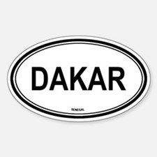 Dakar, Senegal euro Oval Decal