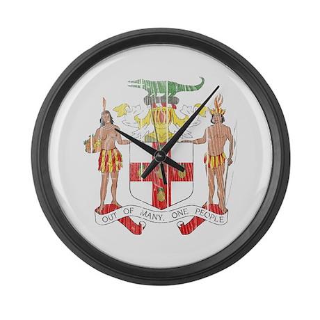 Jamaica Coat Of Arms Large Wall Clock