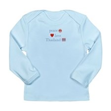 Peace Love and Thailand Long Sleeve Infant T-Shirt