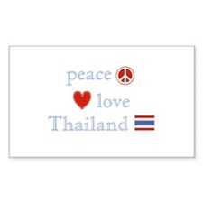 Peace Love and Thailand Decal