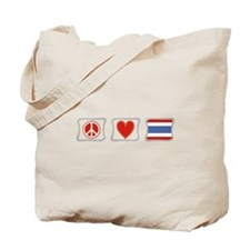 Peace Love and Thailand Tote Bag