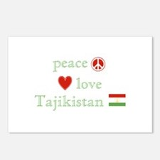 Peace Love and Tajikistan Postcards (Package of 8)